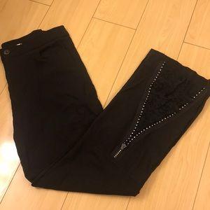 💥JIN ABE💥 steampunk Goth lace detail pants.